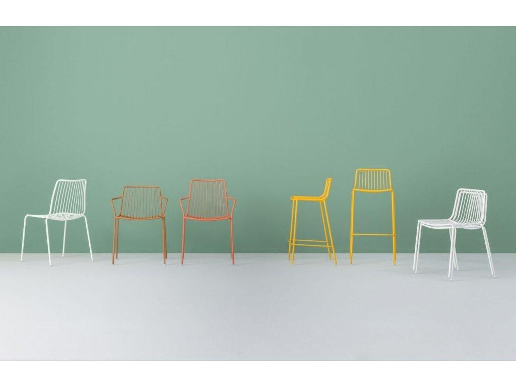 Bílá kovová barová židle Nolita 3657
