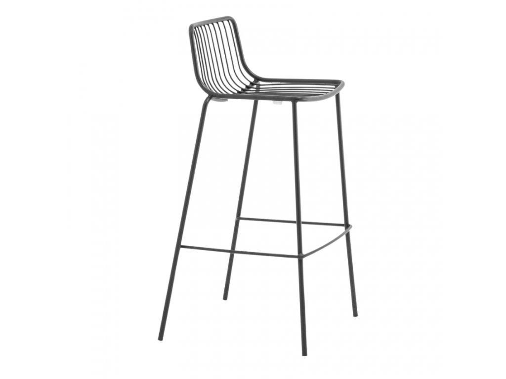 Černá kovová barová židle Nolita 3658 75 cm