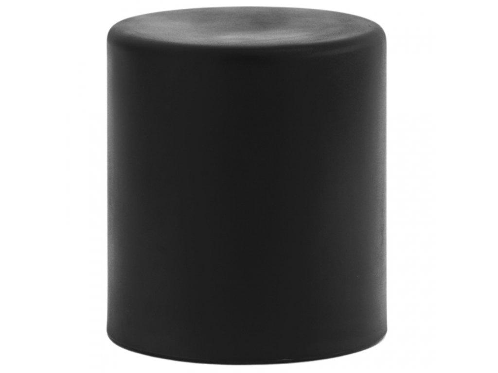 Černý kulatý plastový taburet Wow 480 O 40 cm