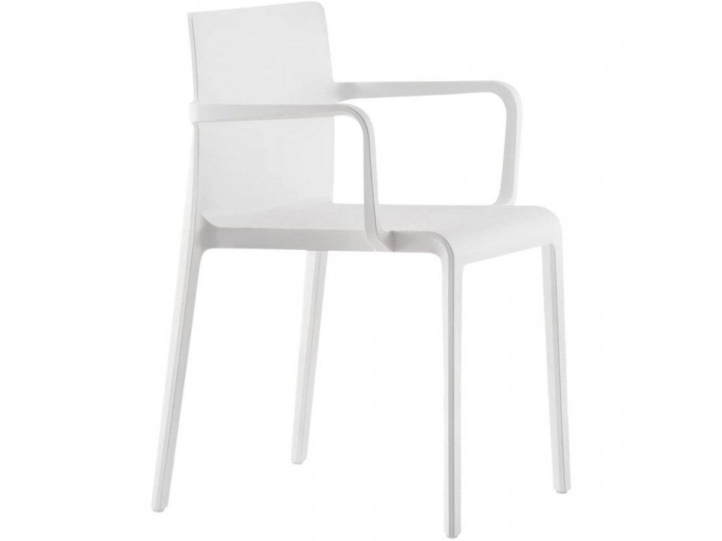 Bílá plastová židle Volt 675