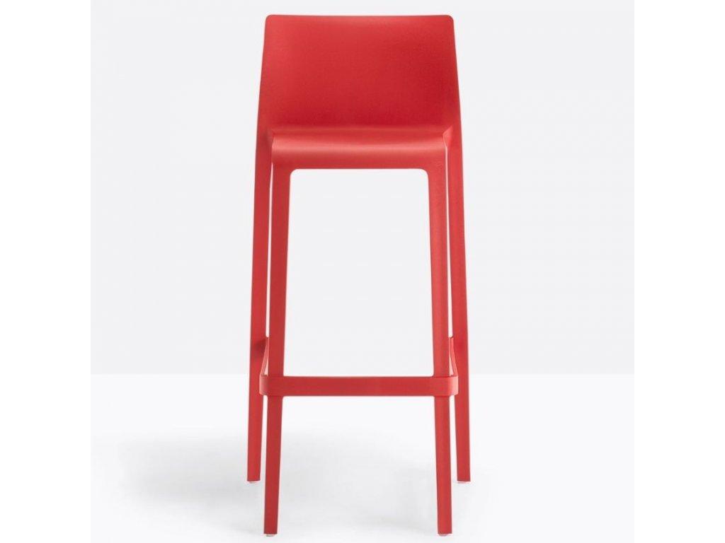 Červená plastová barová židle Volt 678 76,5 cm