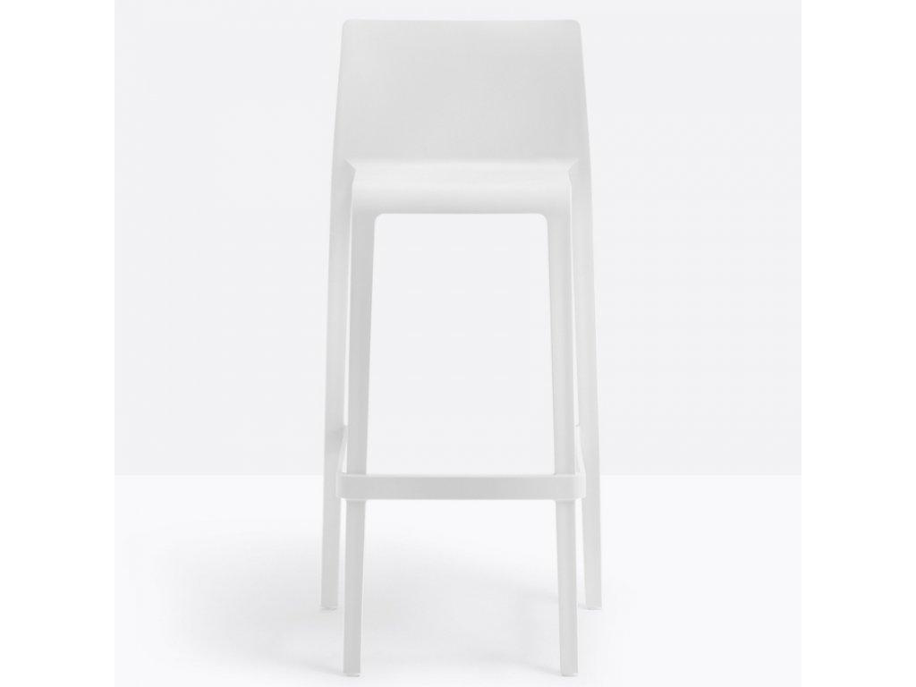 Bílá plastová barová židle Volt 678