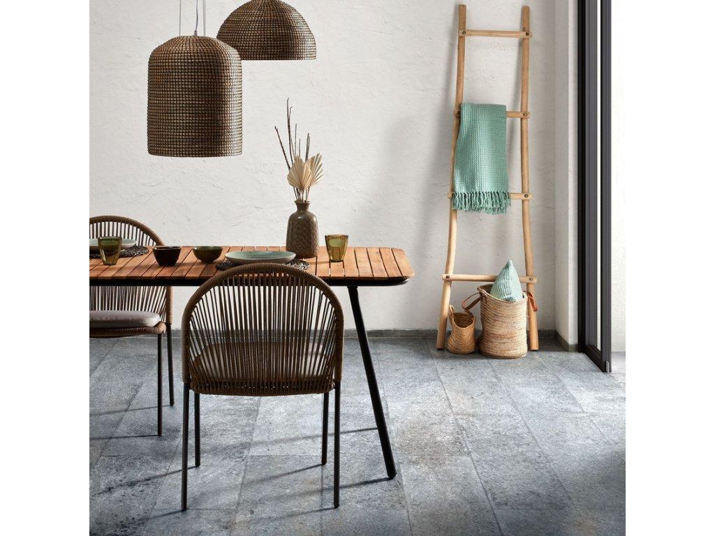 Krémová zahradní židle s výpletem LaForma Stad