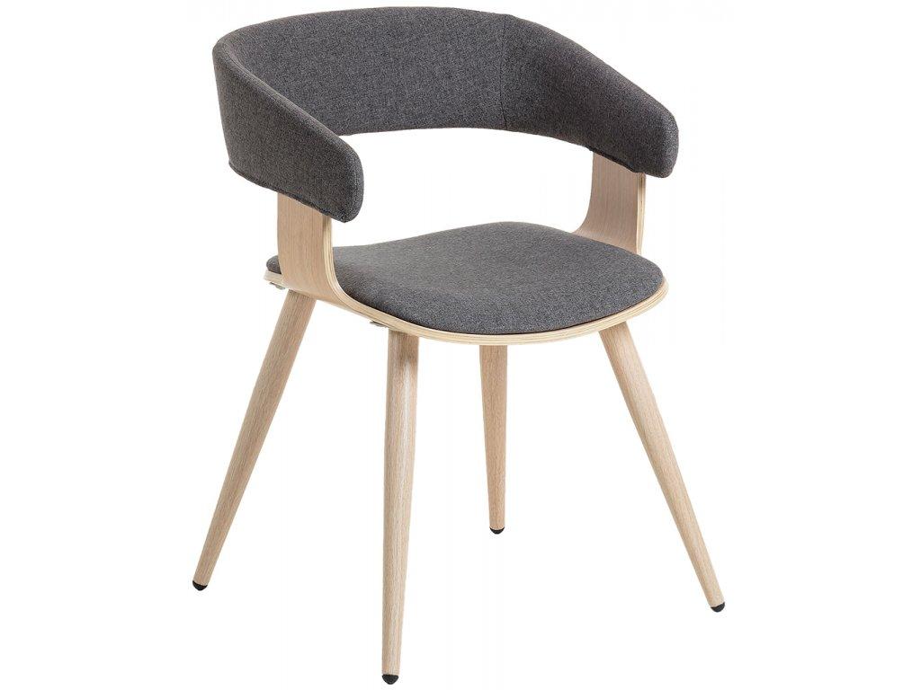 Tmavě šedá látkové jídelní židle LaForma Heiman