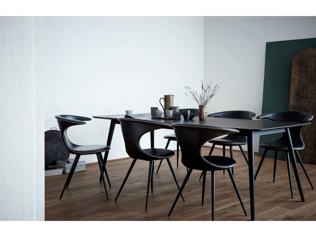 Černá koženková vintage židle DanForm Flair