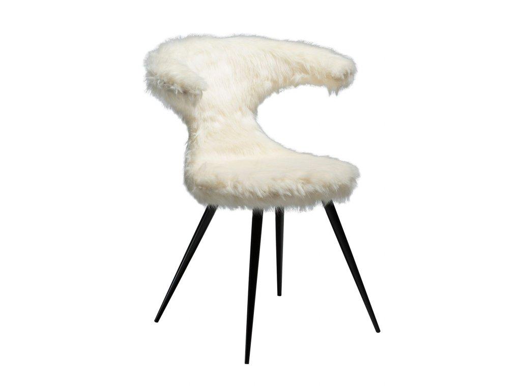 Bílá kožená židle DanForm Flair