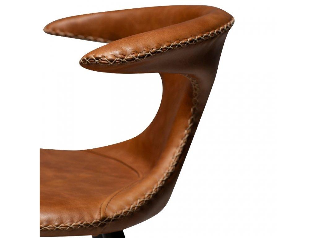 Hnědá kožená židle DanForm Flair