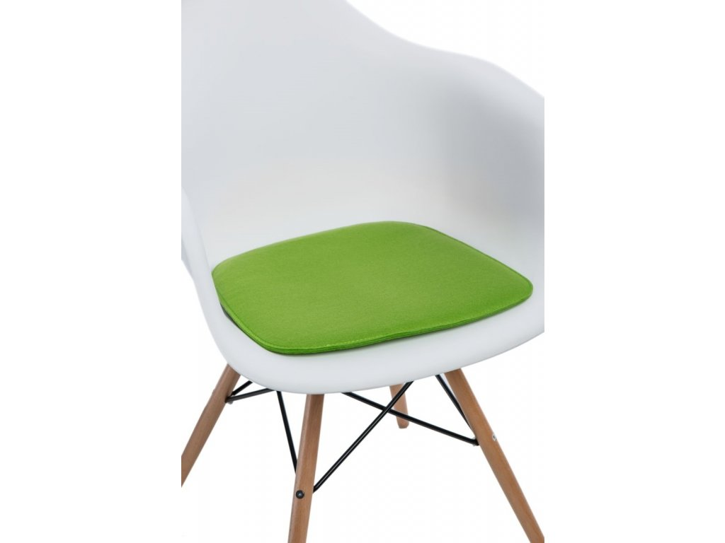 Zelený podsedák 40x39 cm