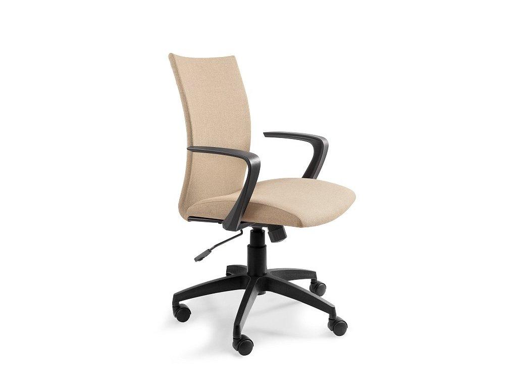 Béžová čalouněná kancelářská židle Alcock