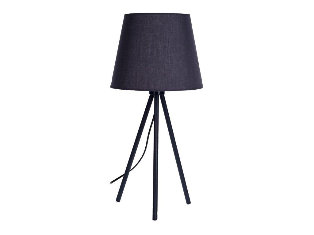 Tmavě šedá stolní kovová lampa Maverick
