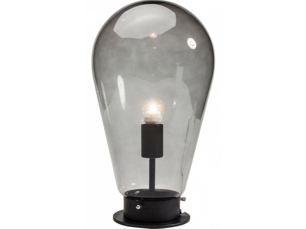 Černá stolní lampa Bulb  s kovovou podnoží