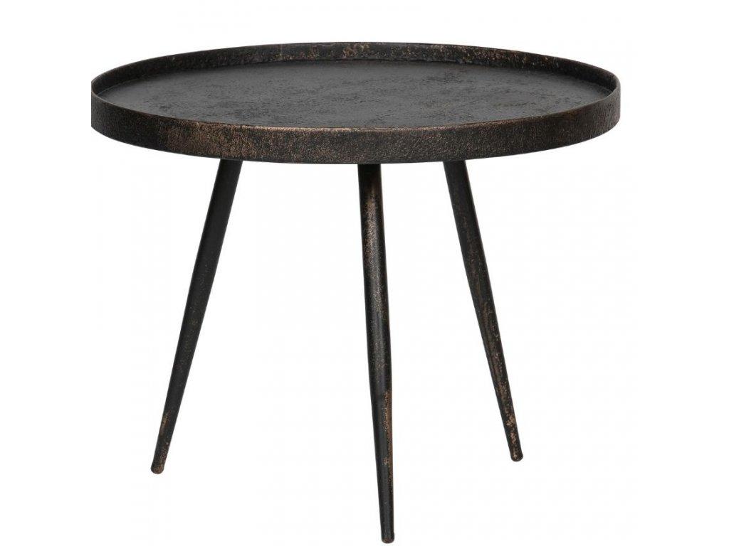 Černý kovový konferenční stolek Buster L s patinou 58 cm848x848