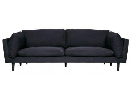 Černá čalouněná pohovka Gerard, 228 cm