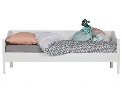 Bílá postel Warde II. 90x200 cm