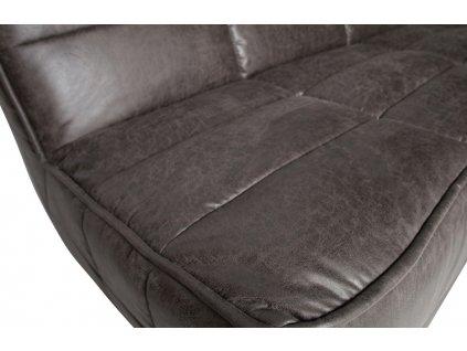 Antracitově šedá koženková trojmístná pohovka Robbie 210 cm