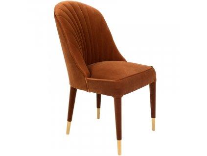 Oranžová sametová jídelní židle Bold Monkey Give Me More