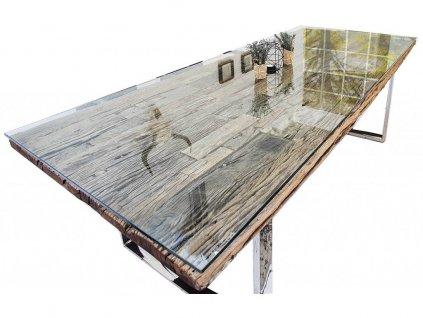 Skleněná deska Raw 180x100 cm ke stolu Raw