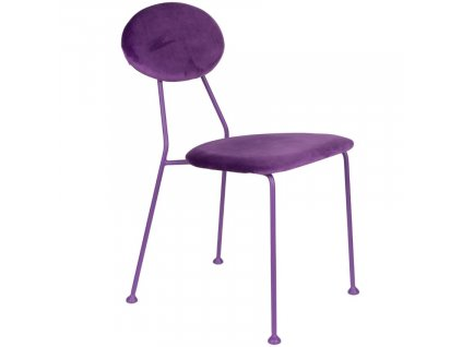 Fialová sametová jídelní židle Bold Monkey Kiss The Froggy848x848