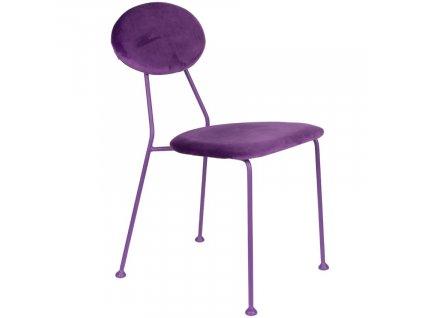 Sametová čalouněná jídelní židle Bold Monkey Kiss The Froggy, fialová barva