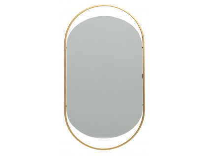 Oválné kovové zrcadlo Antique , 57x27 cm