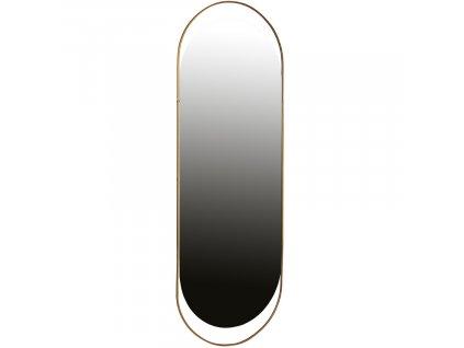 Antique oválné kovové závěsné zrcadlo 168x60 cm