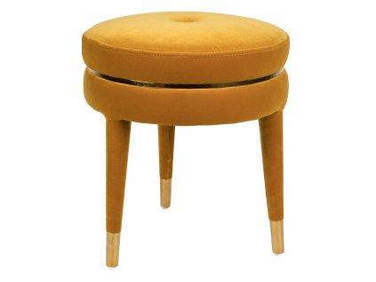 Žlutý čalouněný taburet Bold Monkey I Am Not A Macaron