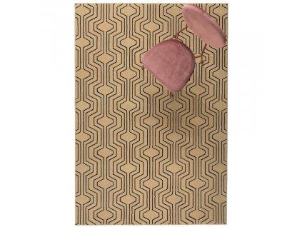 Béžový vzorovaný koberec Bold Monkey Swinging Lines 200x300 cm