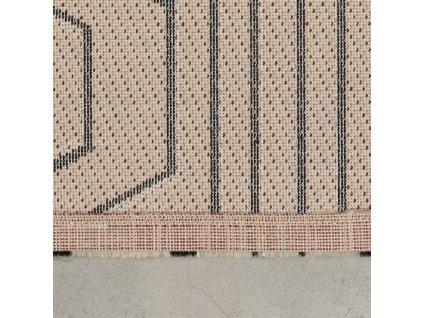 Tkaný koberec s geometrickým vzorem Bold Monkey Swining Lines 200x300 cm, béžová hnědá barva