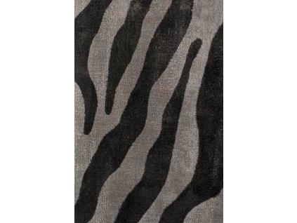 Tkaný koberec se vzorem zebry Bold Monkey Zebra Friendly 200x300 cm, černá barva