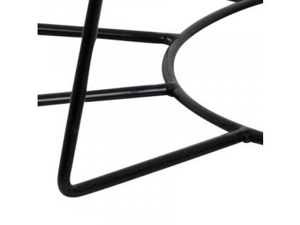 Bílý skleněný konferenční stolek Goldy 80 cm, sklo, černě lakovaná podnož