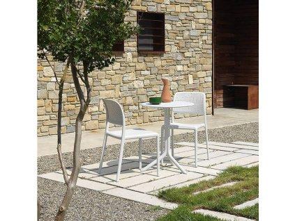 Bílý designový stůl Loft Coffee 61 cm