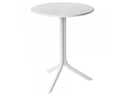 Bílý plastový zahradní stůl Spritz 61 cm