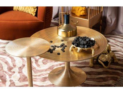 Kulatý kovový odkládací stůl Bold Monkey Hypnotising, zlatá barva