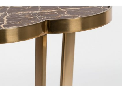 Kulatý mramorový odkládací stolek Bold Monkey It´s Marblelicious, hnědá barva