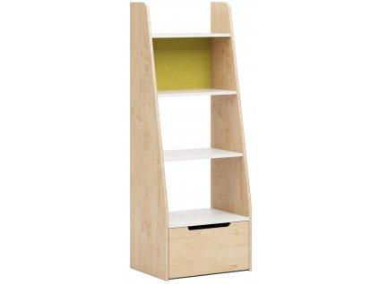 Žlutá dětská knihovna DEVOTO Nimbo překližka
