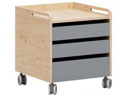 Šedý kontejner k dětskému psacímu stolu DEVOTO Moody
