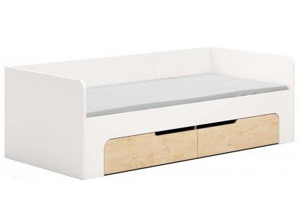 Bílá dětská postel DEVOTO Nimbo s úložným prostorem překližka