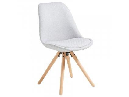 Světle šedá látková jídelní židle LaForma Lars