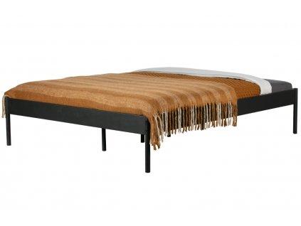 Černá kovová postel Ariana, 160x200 cm