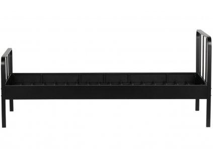 Černá kovová jednolůžková postel Sheldon, 90x200 cm