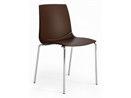 Jídelní židle Laura, hnědá plast