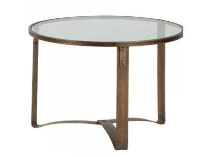 Mosazný konferenční stolek Hugh 65 cm848x848