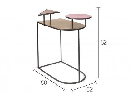 Designový odkládací stolek Bold Monkey Act Ironic 60 x 52 cm