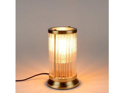 Zlatá kovová stolní lampa Bold Monkey Angel On Fire