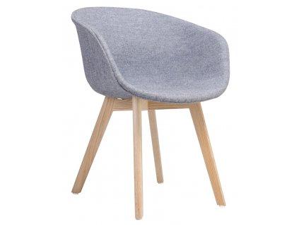 Jídelní židle Broche, šedá/dub
