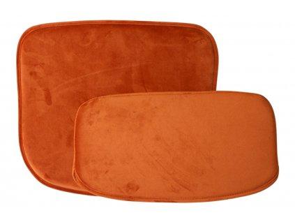 Oranžový sametový podsedák HK living Comfort
