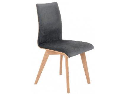Tmavě šedá čalouněná jídelní židle Runny