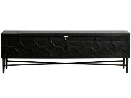 Černý TV stolek Morten