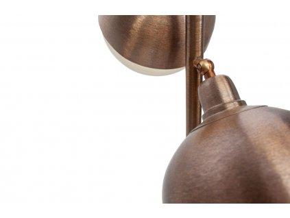 Trojitá měděná kovová stojací lampa Bertha