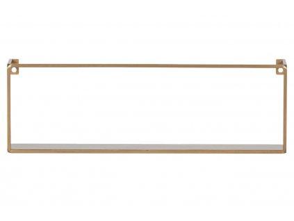 Zlatá kovová police 50 cm
